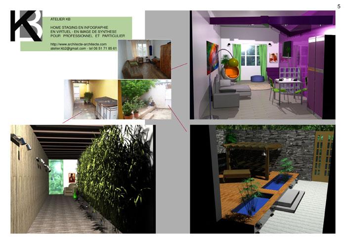 architecture d 39 interieur exemple home staging en virtuel en infographie en 3d en image de. Black Bedroom Furniture Sets. Home Design Ideas
