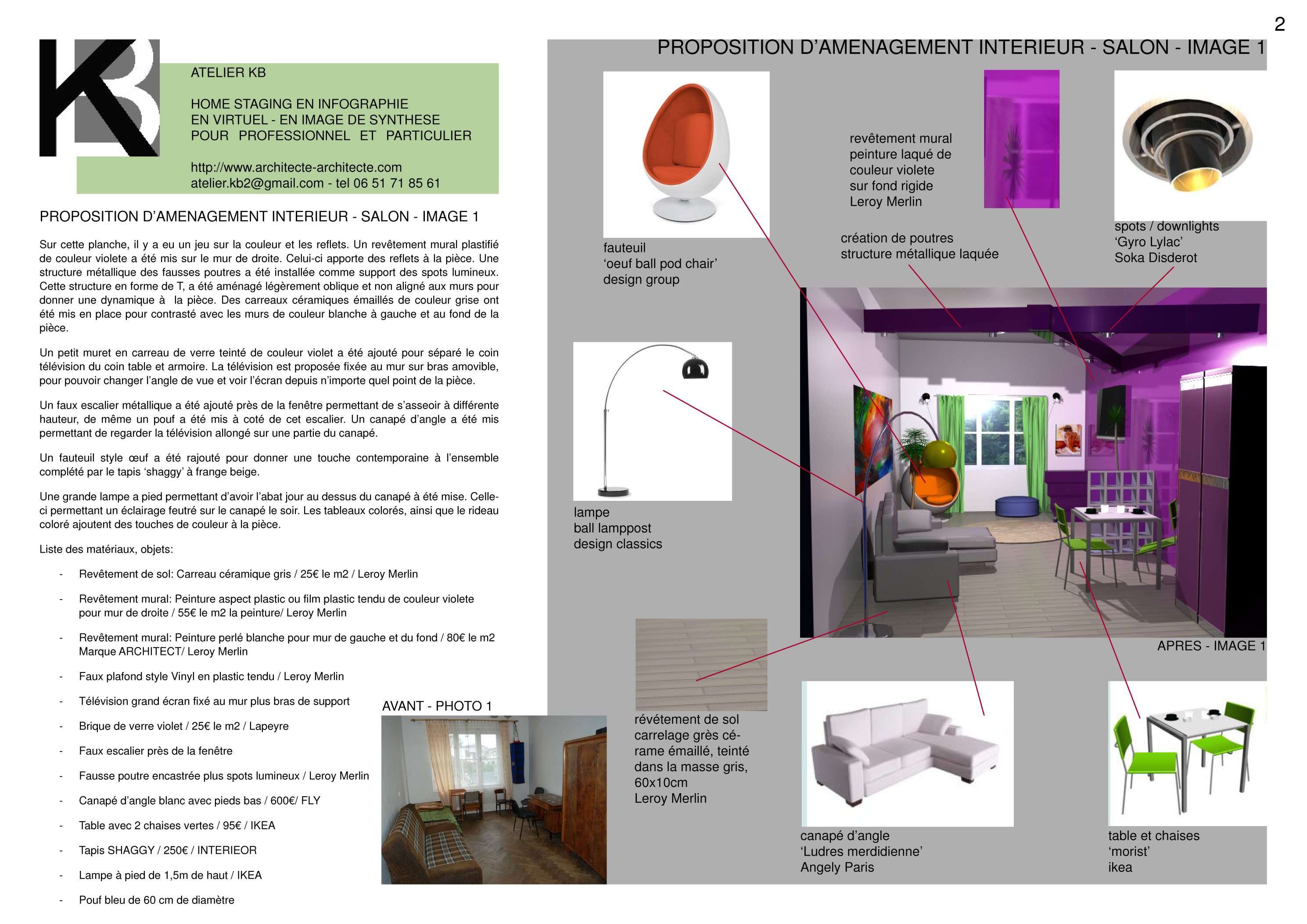 home staging en virtuel en infographie en 3d en image de synth se. Black Bedroom Furniture Sets. Home Design Ideas